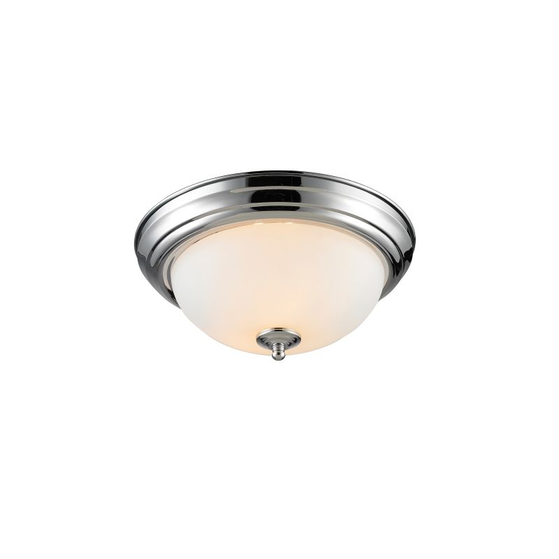 Golden Lighting  One Ch Op Chrome Multi Family In Wide Flush Mount Ceiling Fixture