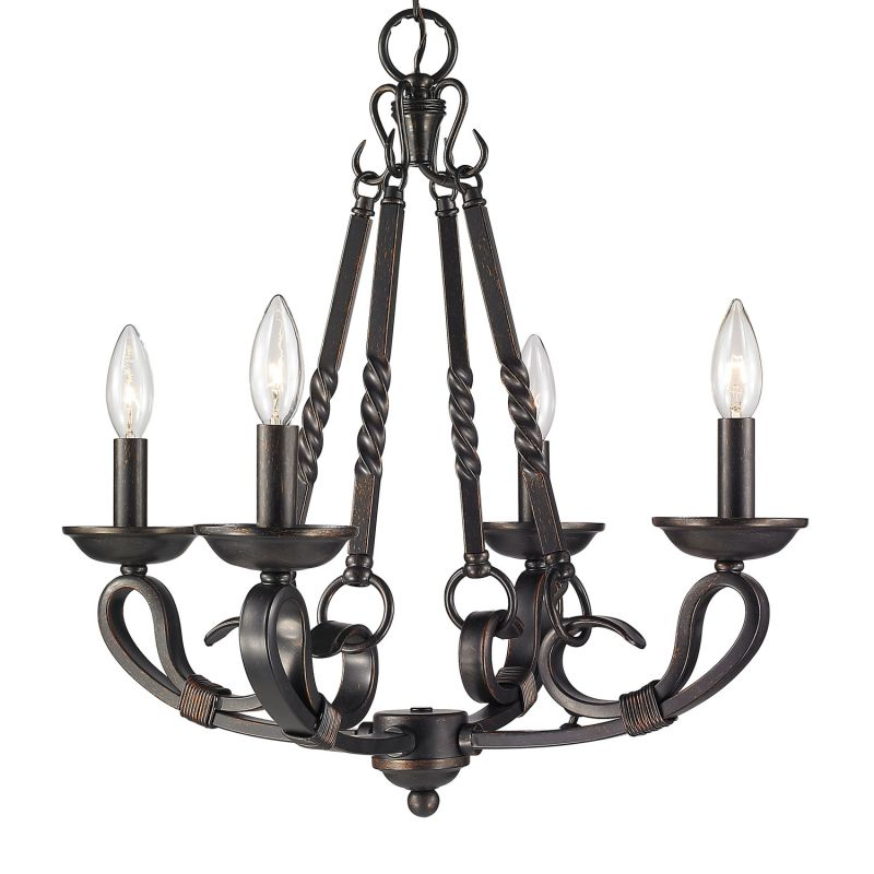 Lighting 4414 4 Abz Aged Bronze Navarro  Tier Chandelier