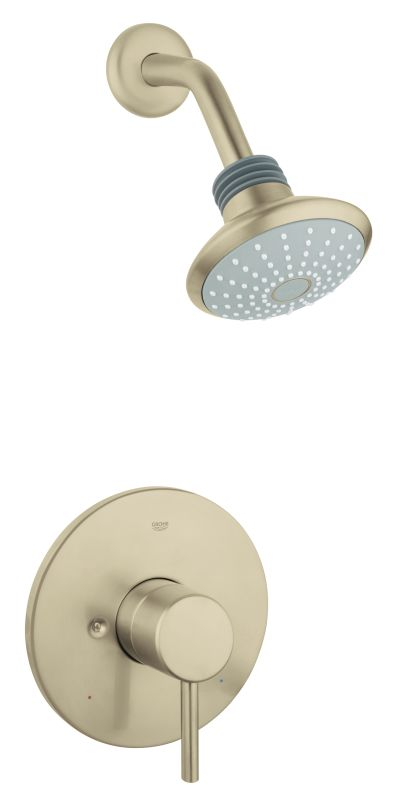 Grohe 124057 Warm Brushed Nickel Pressure Balanced Shower