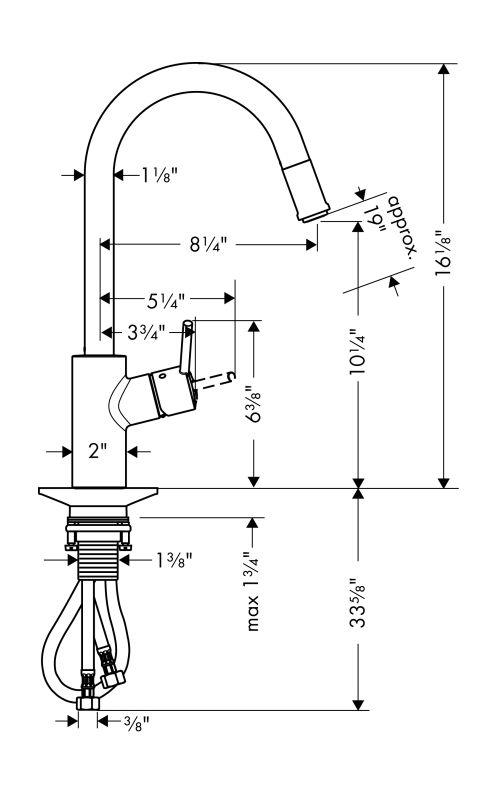 Hansgrohe  Steel Optik Talis S Pull Down Kitchen Faucet