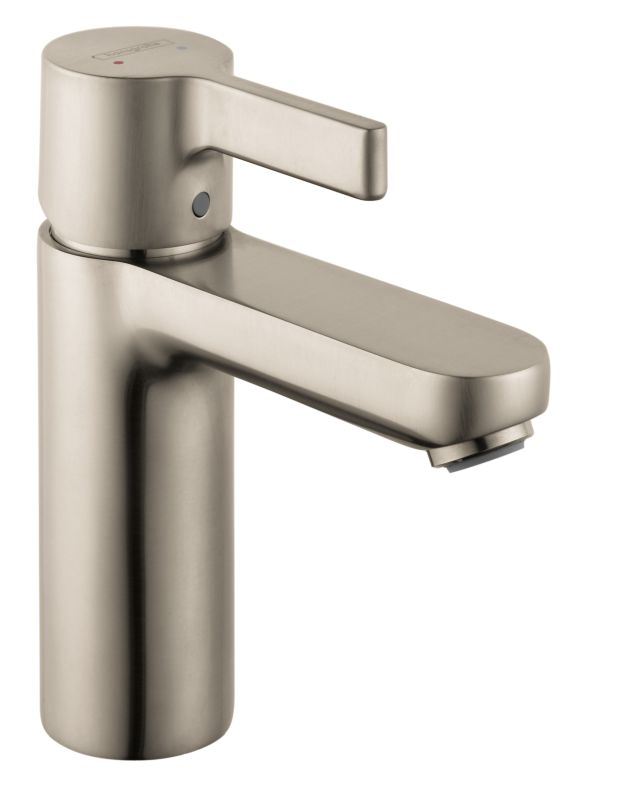Hansgrohe 31060821 brushed nickel metris s single hole bathroom faucet with ecoright quick - Hansgrohe pop up drain ...