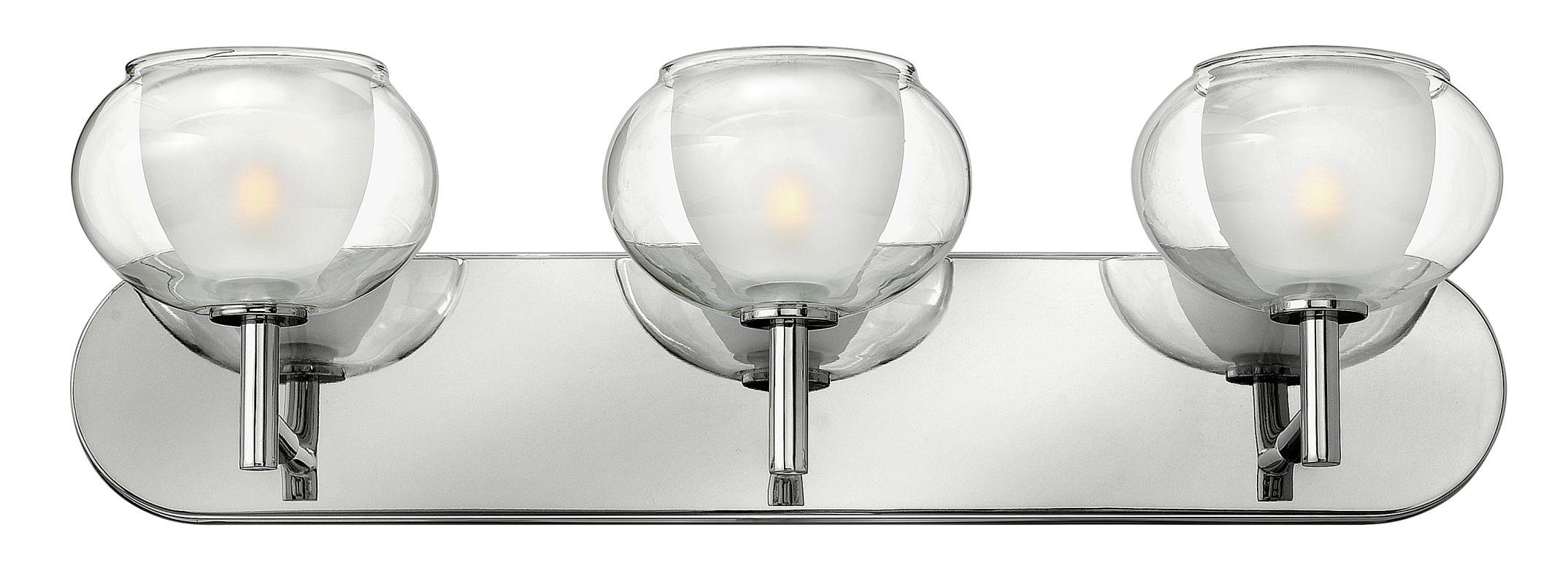 Vanity Light Upside Down : Hinkley Lighting 50203CM Chrome 3 Light 24
