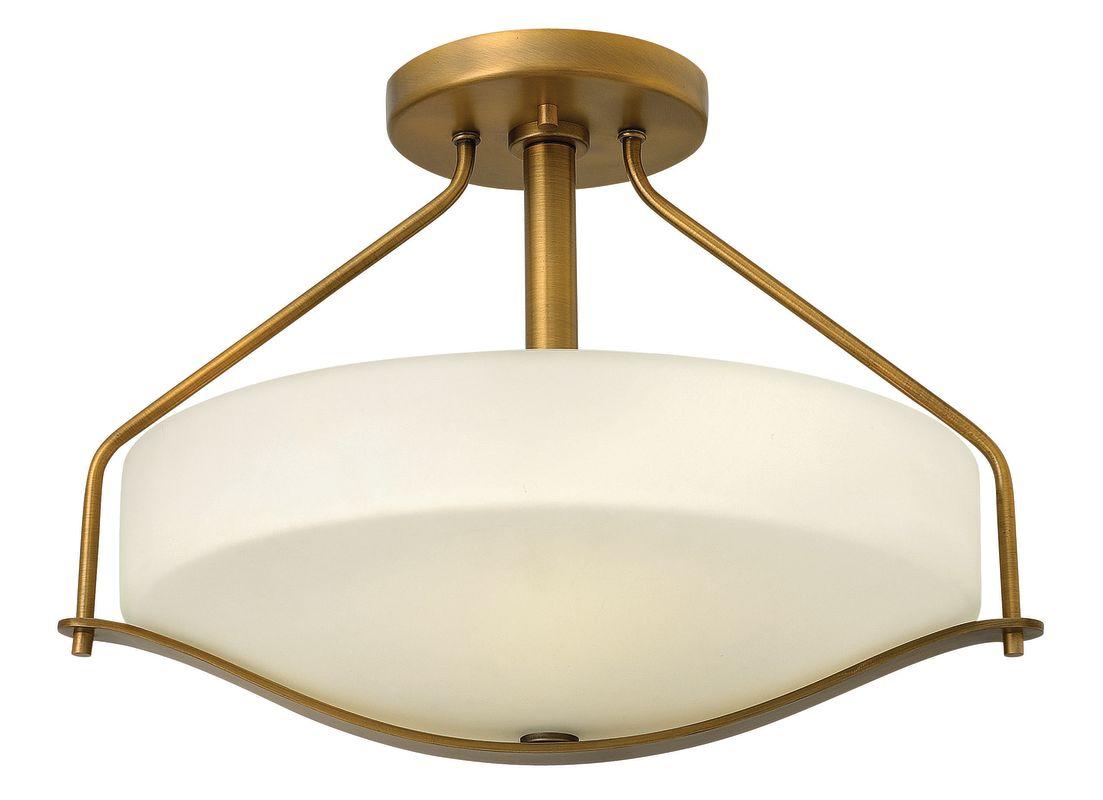 Portfolio 3 Light 22 In Brushed Nickel Bowl Vanity Light: Hinkley Lighting 3821BR Brushed Bronze 3 Light Indoor Semi