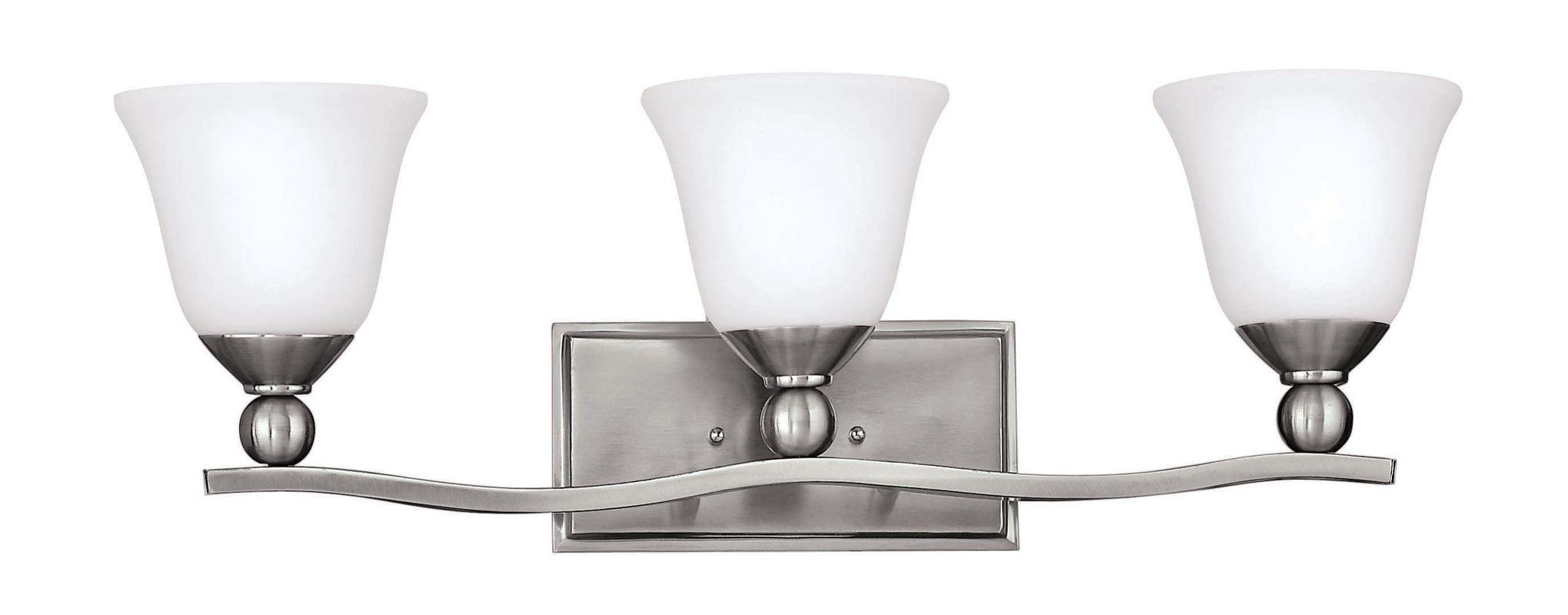 Hinkley Lighting 5893bn Brushed Nickel 3 Light 26 Width Bathroom Vanity Light From The Bolla