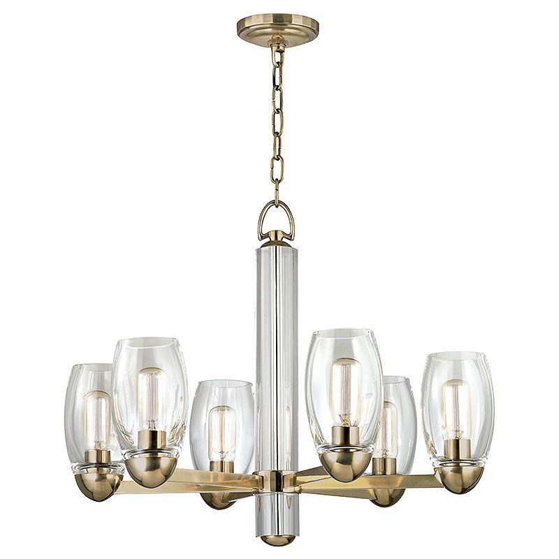 Hudson Valley Lighting Bulbs: Hudson Valley Lighting 8846-AGB Aged Brass Pamelia 6 Light