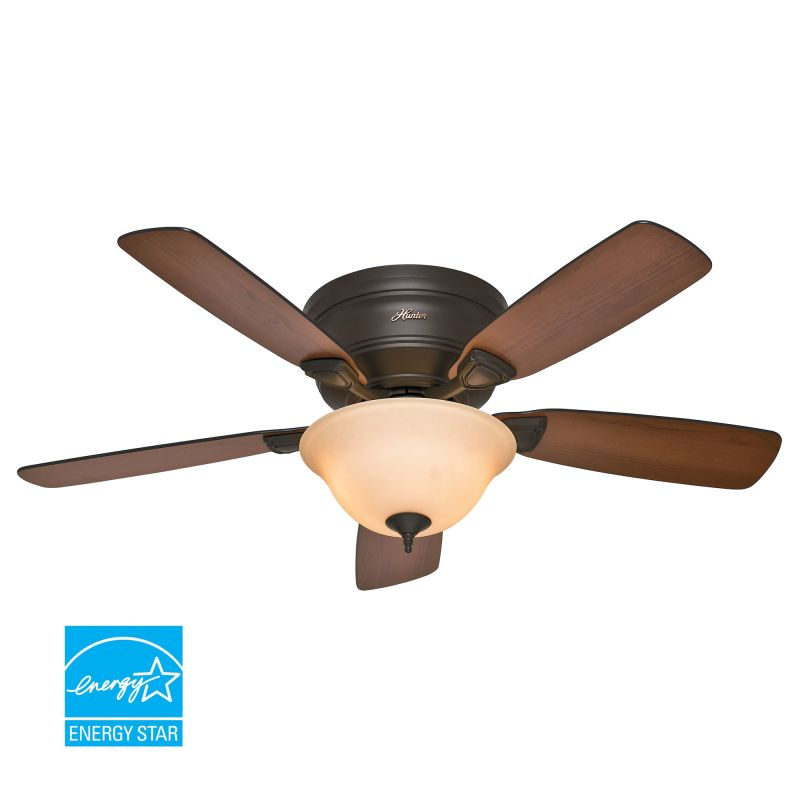 Hunter 52063 New Bronze 48 Flush Mount Energy Star Rated