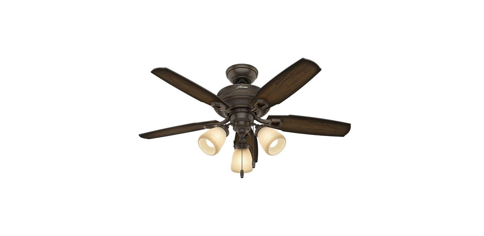 Hunter 52233 Onyx Bengal 44 Quot Ceiling Fan 5 Reversible