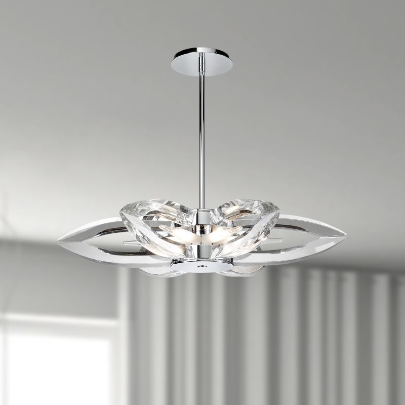 Iberlamp Ceight Six Ch Chrome Nan  Tier Chandelier Lightingdirect Com