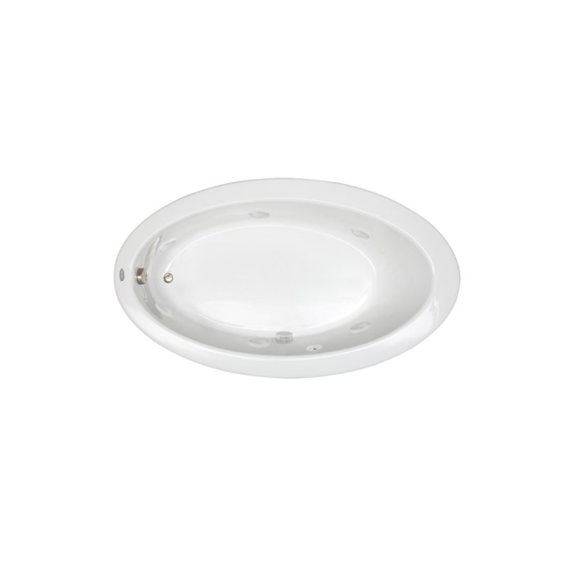 "Jacuzzi Esp6060 Wcl 1hx Whirlpool Bathtub: Jacuzzi J3D6638WRL1HXW White 66"" X 38"" Signature Drop In"
