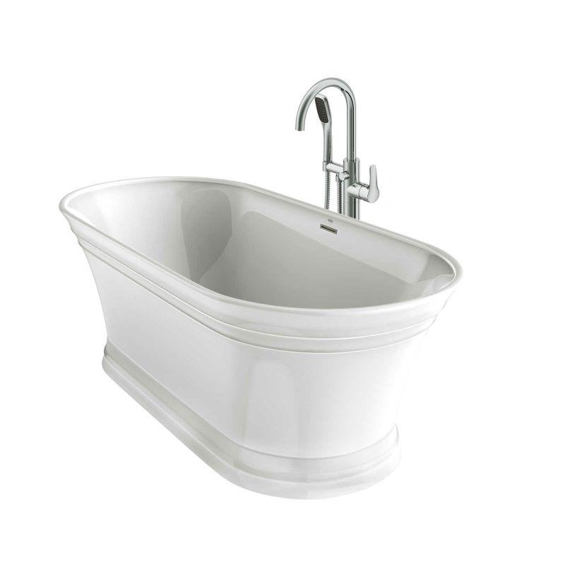 Lyb6731bcxxxxw In White Chrome Tub Filler By Jacuzzi
