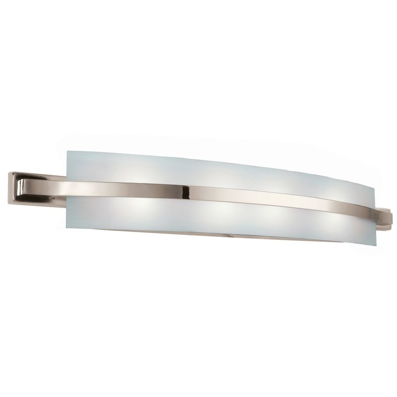 Kichler 10688pn polished nickel freeport energy star rated for Modern bath light fixtures