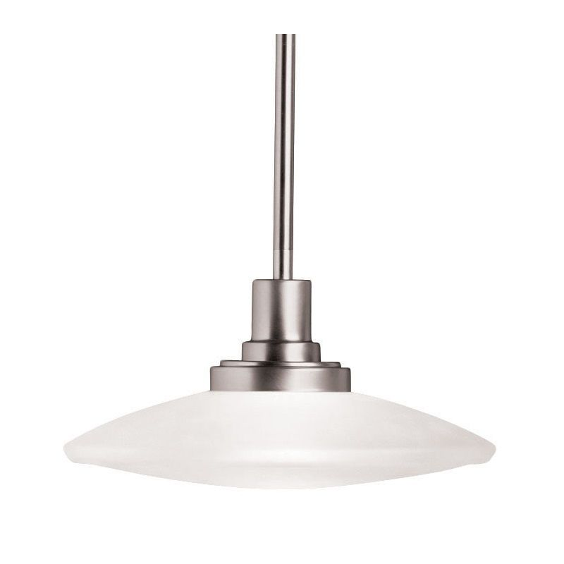 Kichler 6162ni Structures 2 Light Bath Wall Mount In Brushed Nickel: Kichler 2652NI Brushed Nickel Structures Single-Bulb Indoor Pendant With Round Glass Shade