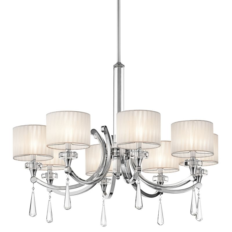 Kichler Ch Parker Point Single Tier Chandelier Lights Stem