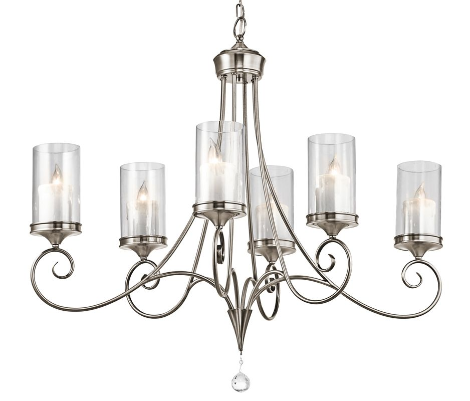Kichler 42862CLP Classic Pewter Lara Single Tier Oval