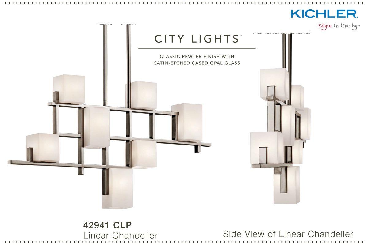 Kichler 42941clp Classic Pewter City Lights Chandelier Build Com