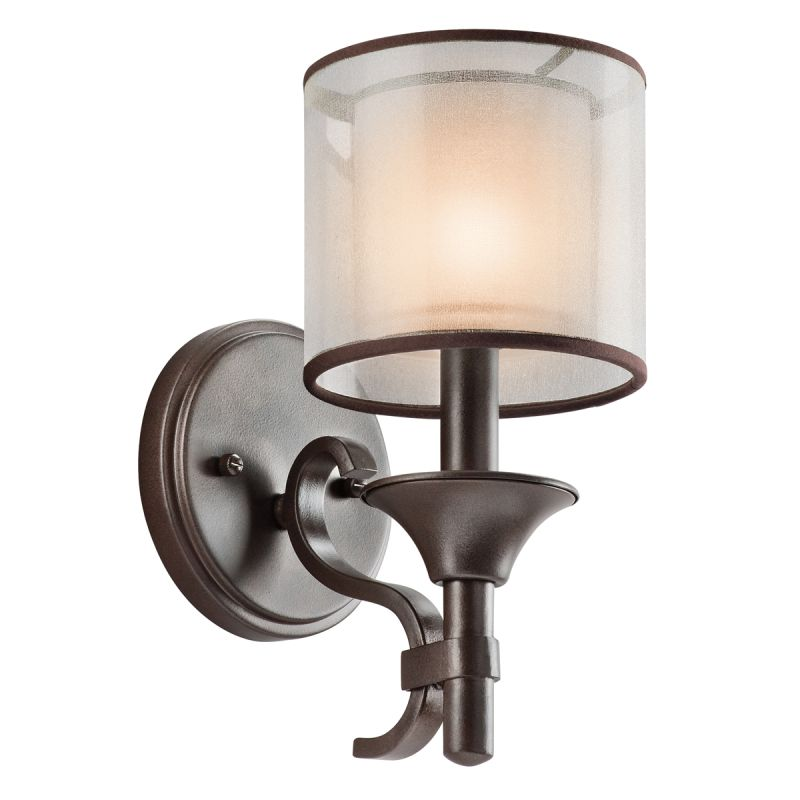 Mission Wall Sconce With Switch : Kichler 45281MIZ Mission Bronze Lacey Single Light 11