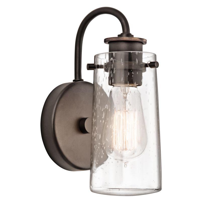 Vanity Lights Pointing Up Or Down : Kichler 45457OZ Olde Bronze Braelyn Single Light 10