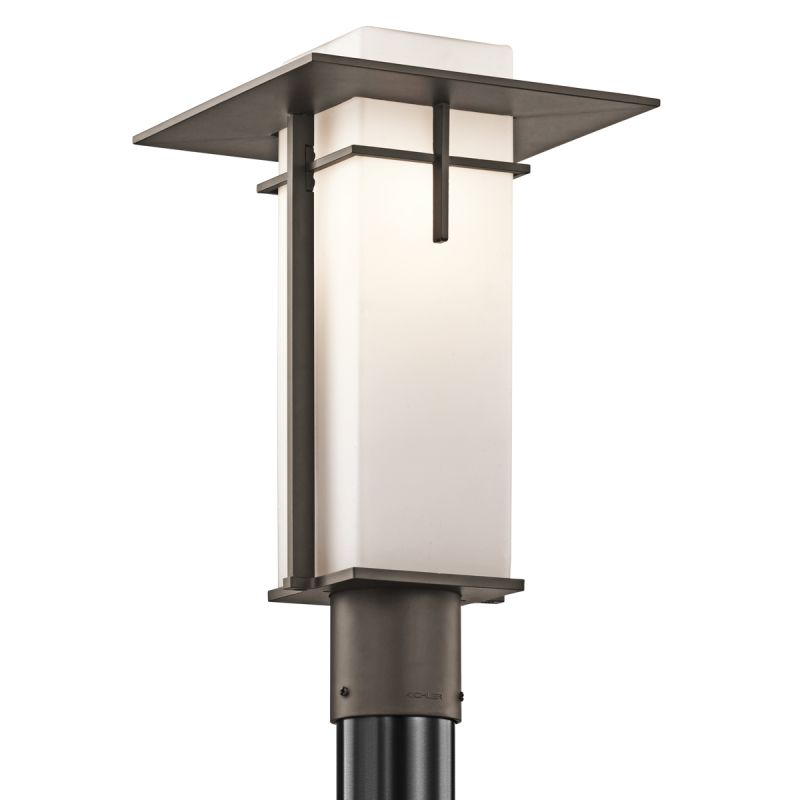 Kichler 49646OZ Olde Bronze 1 Light Outdoor Post Light From The Caterham Coll