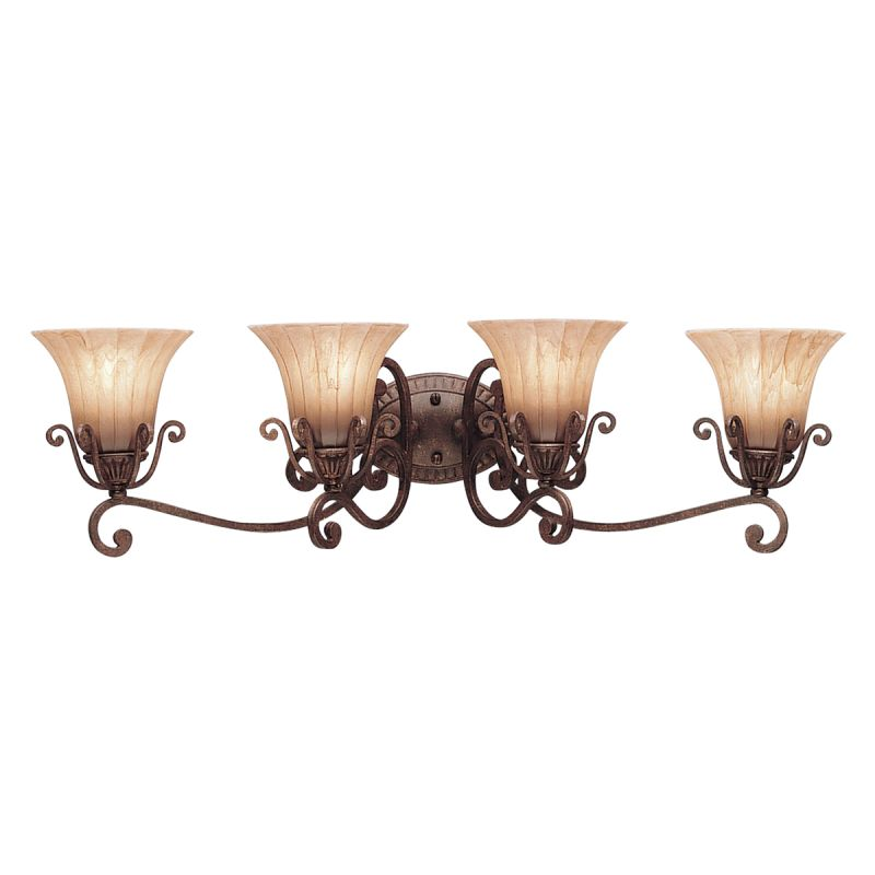 "Commercial Lighting Grove City Oh: Kichler 5058CZ Carre Bronze Cottage Grove 35.5"" Wide 4"