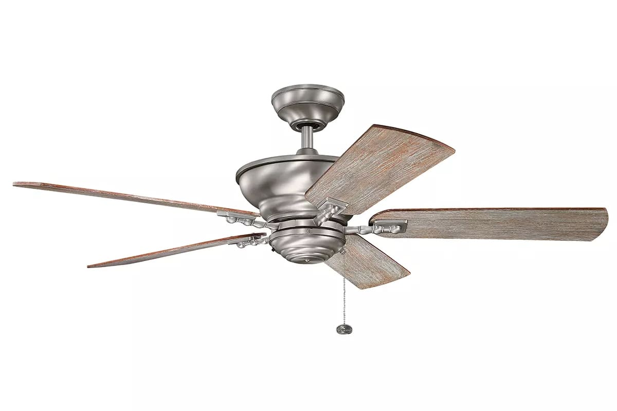 "Kichler 300243BAP Burnished Antique Pewter 52"" Indoor Ceiling Fan with ..."