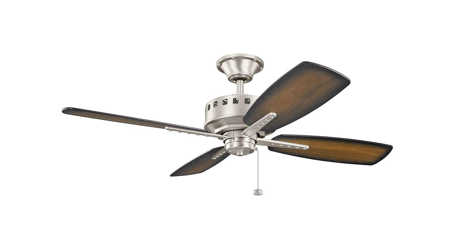 Kichler 310135ni Brushed Nickel 52 Quot Indoor Ceiling Fan