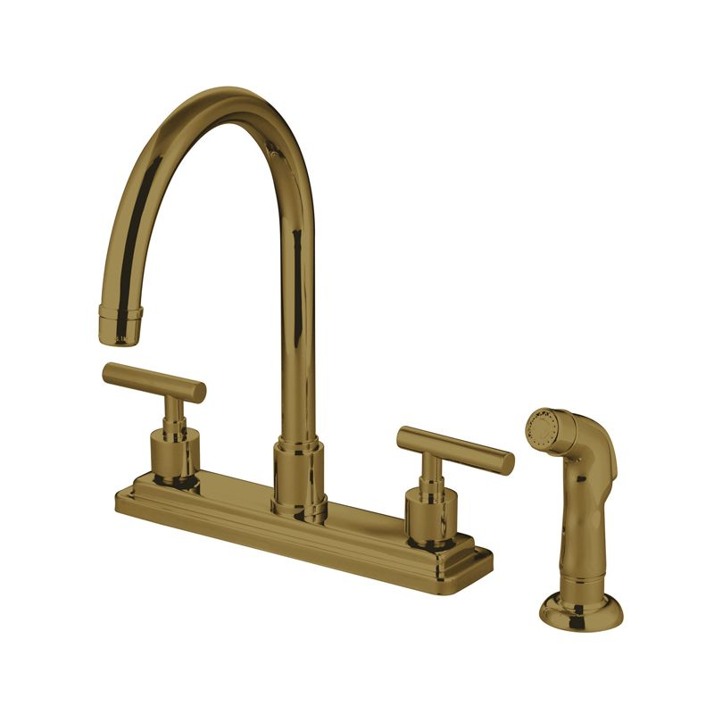 Kingston Brass Ks8792cml Polished Brass Manhattan