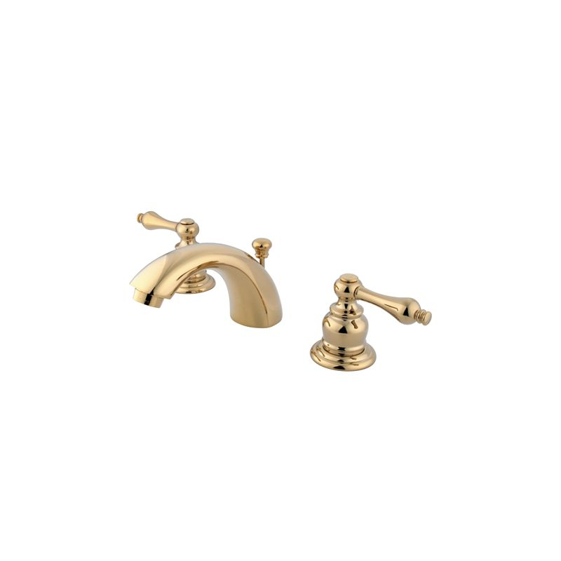 94 Extraordinary Victorian Style Bathroom Faucets Picture Inspirations: Kingston Brass GKB942AL Polished Brass Victorian Mini-Widespread Bathroom Faucet With Pop-Up