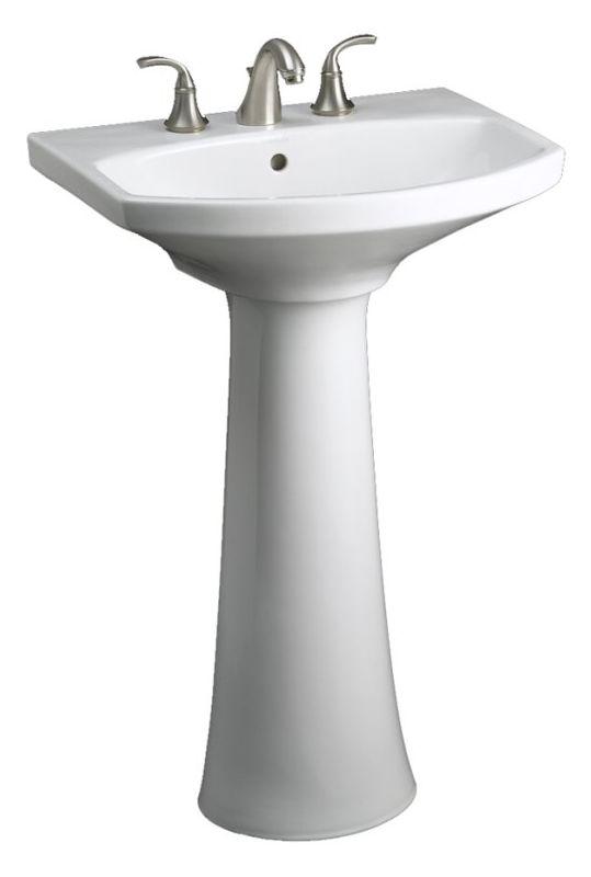 Kohler K 2362 1 0 White Cimarron 22 3 4 Pedestal