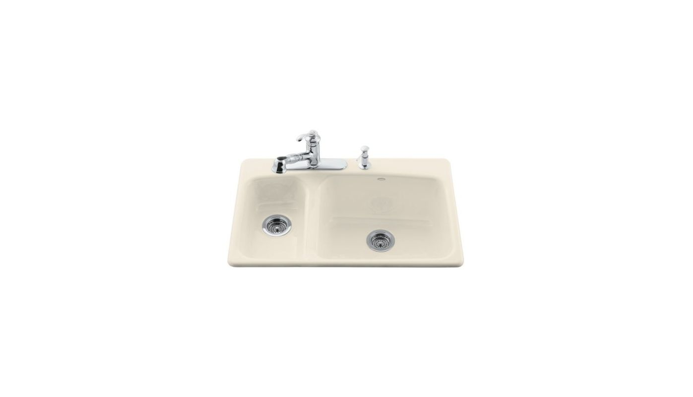 Kohler K 5924 4 47 Almond Lakefield 33 Quot Double Basin Top