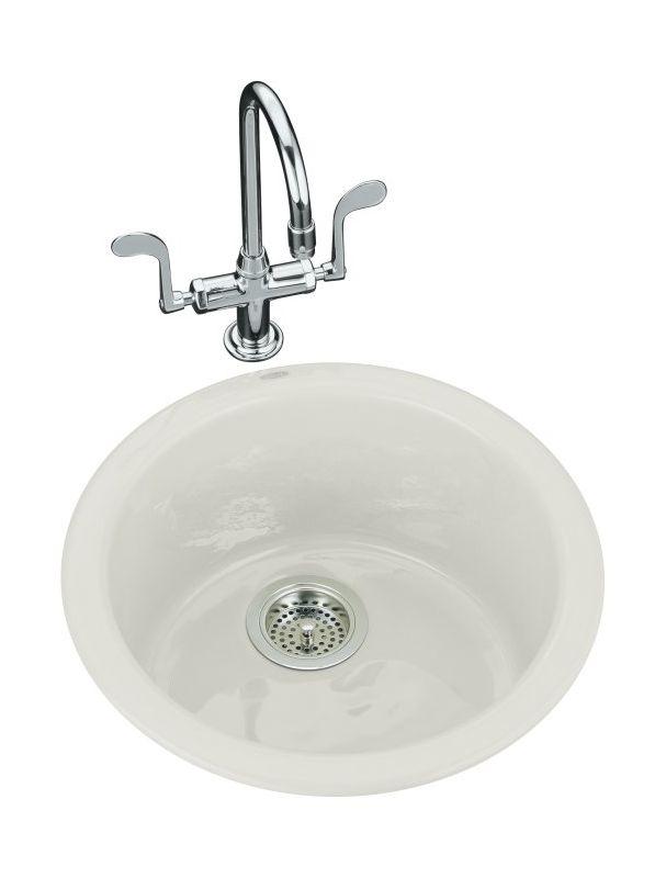 Kohler K 6565 95 Ice Grey Single Basin Cast Iron Bar Sink