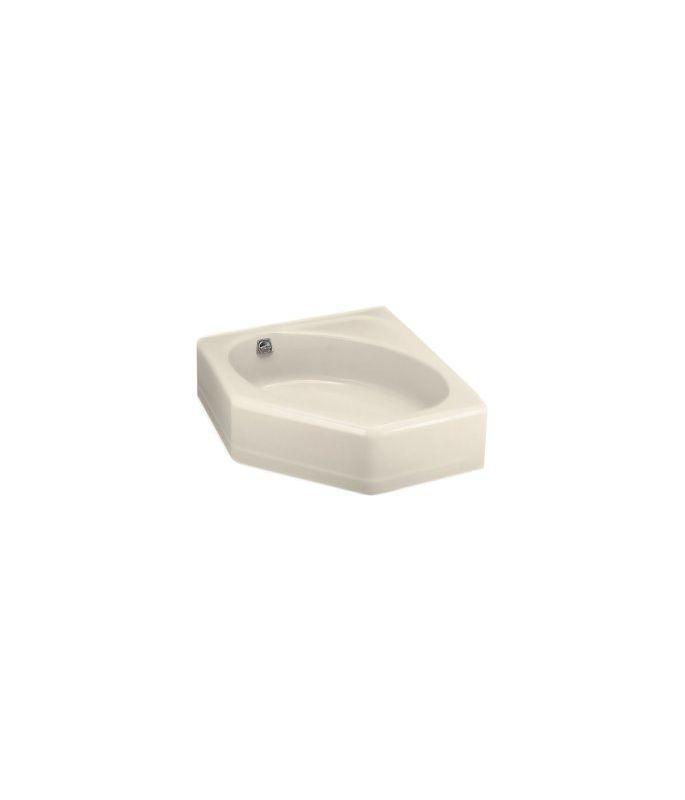 """Kohler Corner Tub Dimensions: Kohler K-821-47 Almond Mayflower Collection 48"""" Corner"""