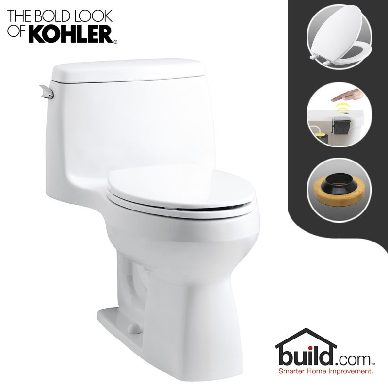 Kohler K 3811 0 Touchless White Santa Rosa 1 6 Gpf One