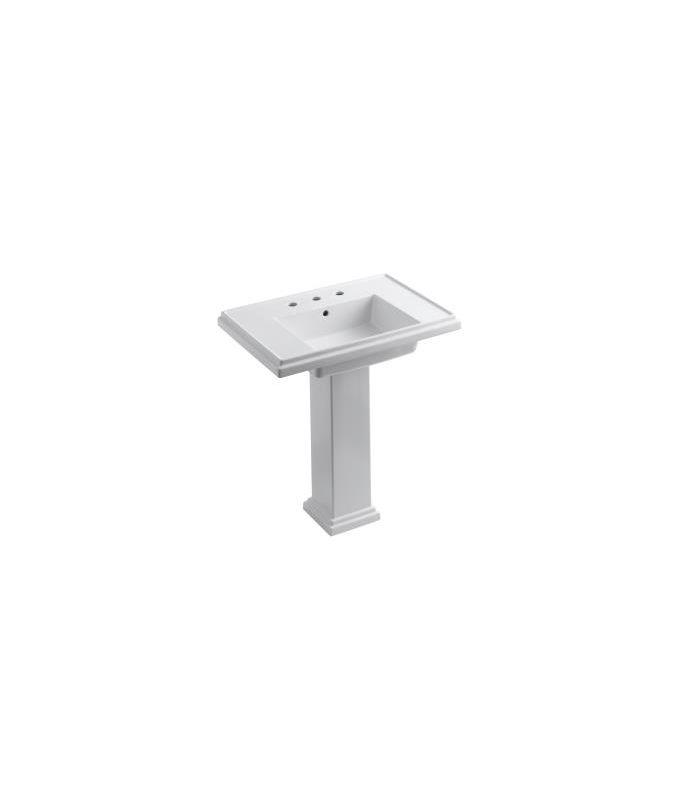 Kohler K 2845 8 0 White Tresham 30 Quot Pedestal Bathroom Sink
