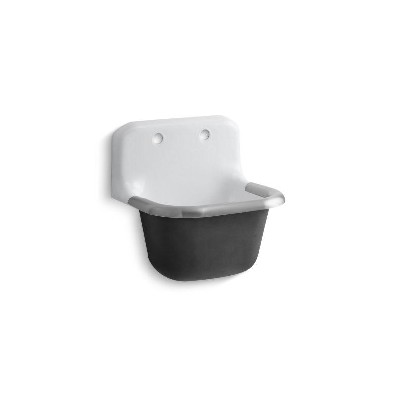 Kohler K 6714 0 White Bannon Service Sink With Rim Guard