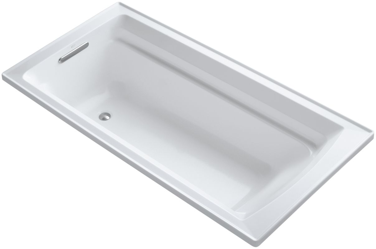Kohler K 1125 0 White Archer Collection 72 Quot Drop In Soaker