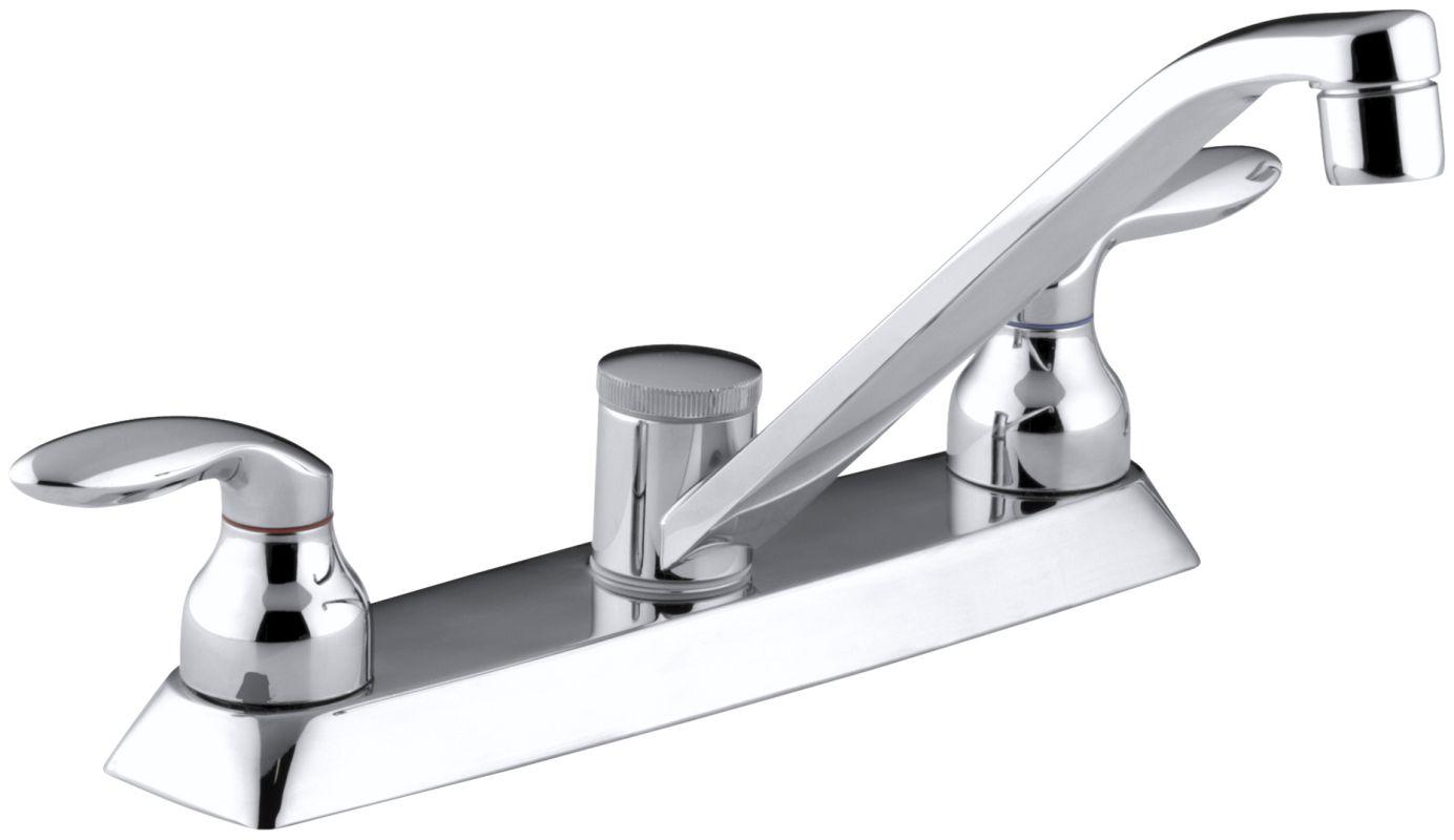 Kitchen Sink Faucet Double Lever Handle Kohler
