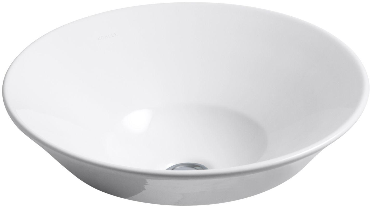Kohler K 2200 0 White Conical Bell 16 1 4 Quot Drop In