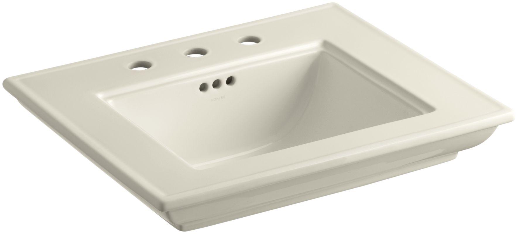 Wide Base Pedestal Sink : The Kohler K-2345-8 has a 30