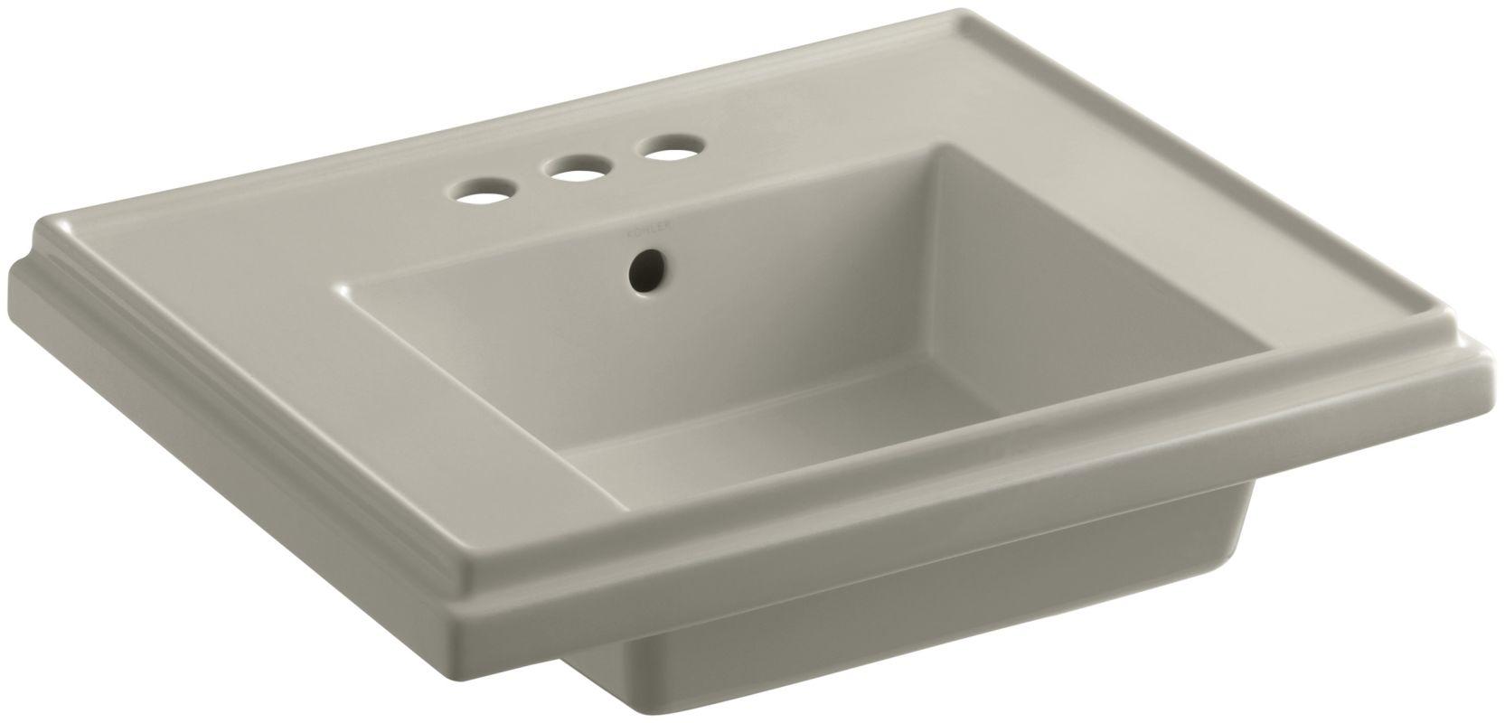 kohler tresham pedestal sink by faucet com k 4 g9 in sandbar by kohler