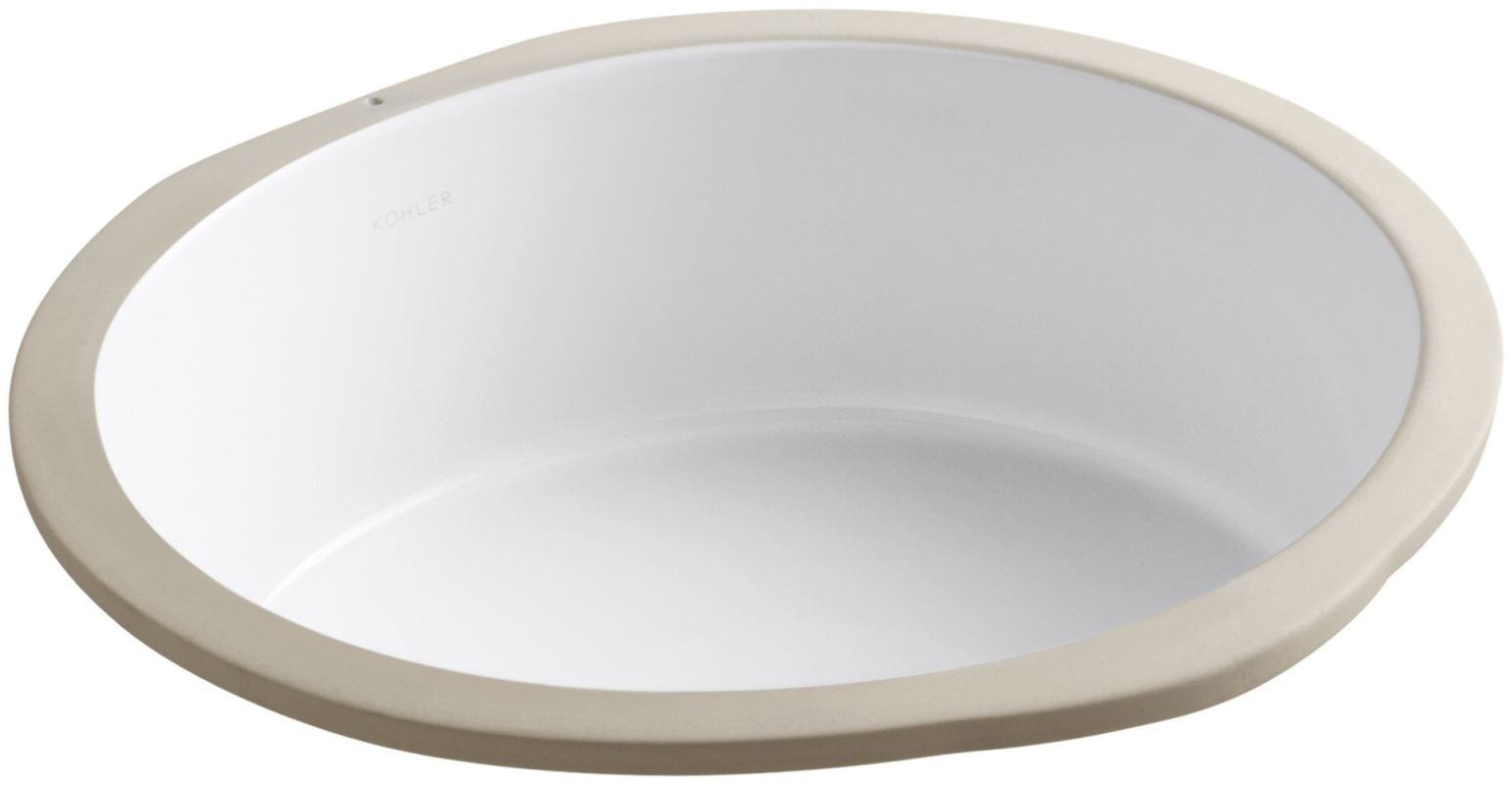 Kohler K 2883 0 White Verticyl 13 3 4 Quot Undermount Bathroom Sink With Overflow Faucetdirect Com