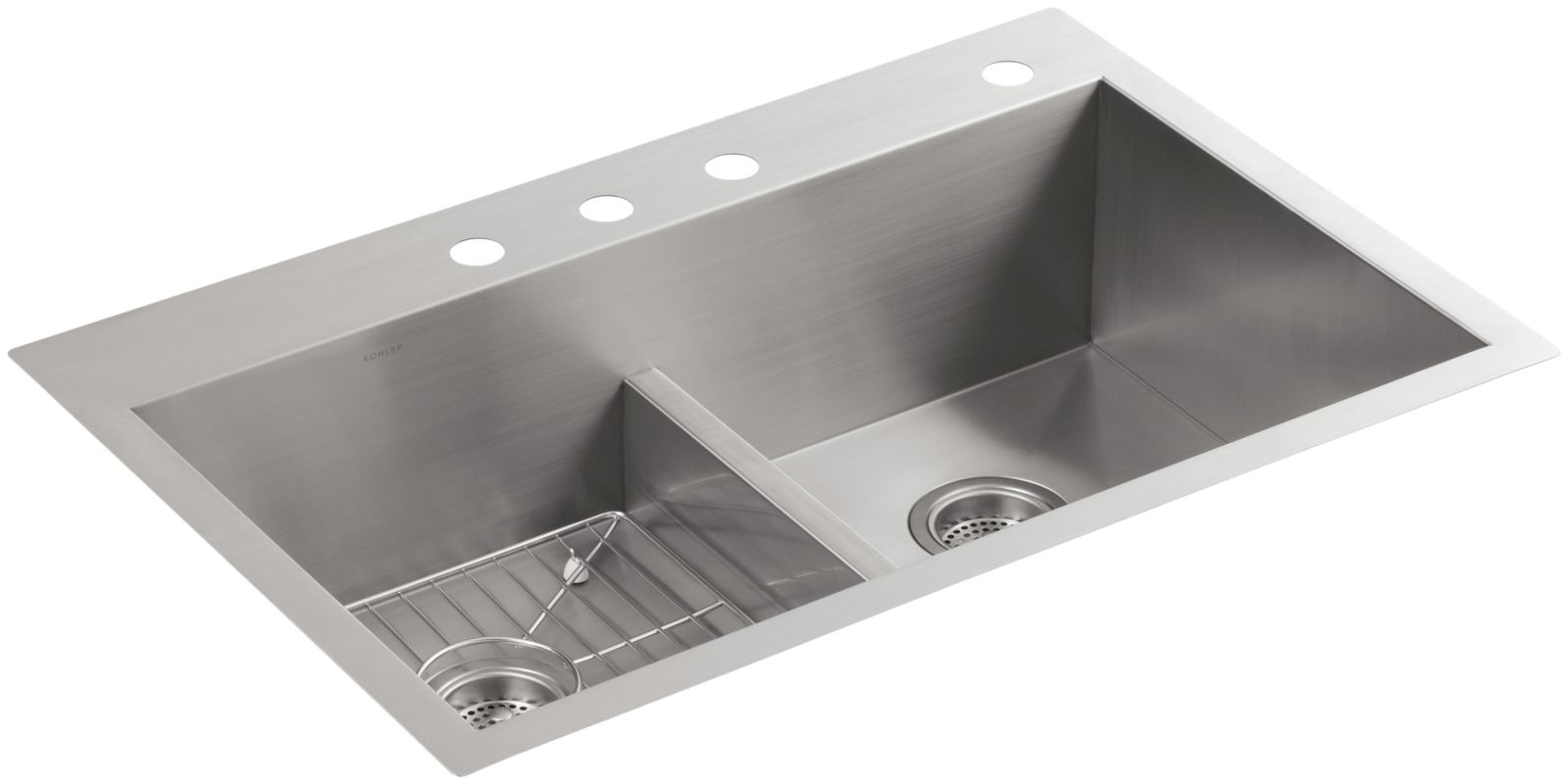 Kohler Vault  Gauge Drop In Stainless Steel Kitchen Sink