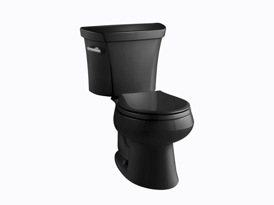Kohler K 3977 T 7 Black 1 6 Gpf Two Piece Round Toilet