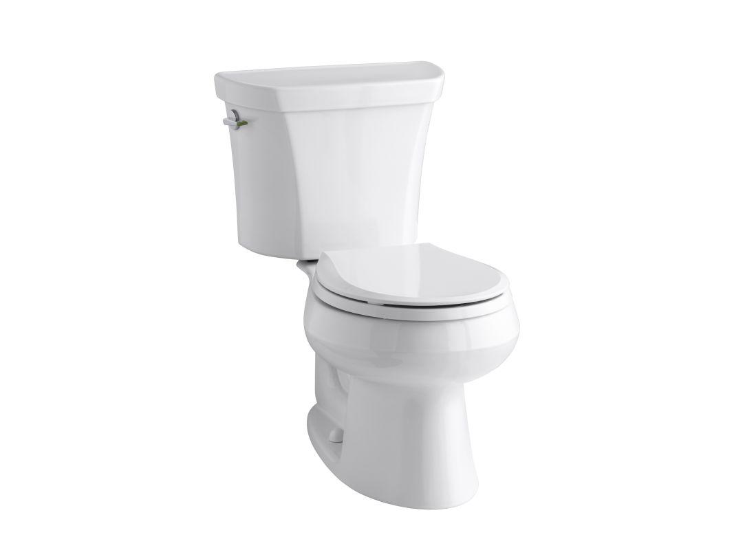 Kohler K 3987 0 White Wellworth Dual Flush Two Piece Round