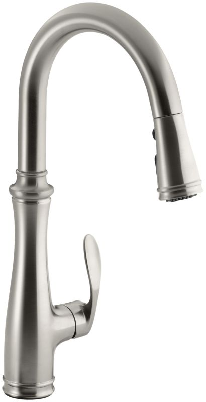 Kohler K 560 Vs Vibrant Stainless Bellera Single Hole Or Three Hole Kitchen Sink Faucet With