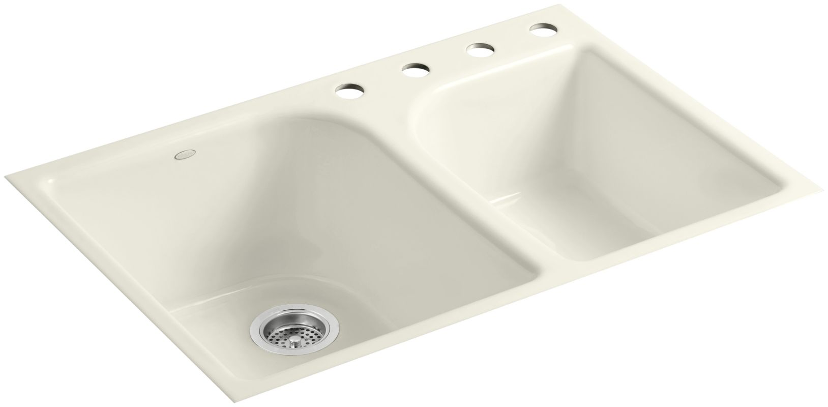 ... Kohler Executive Chef Sink Biscuit By Faucet Com K 5931 4 96 In Biscuit  By Kohler ...
