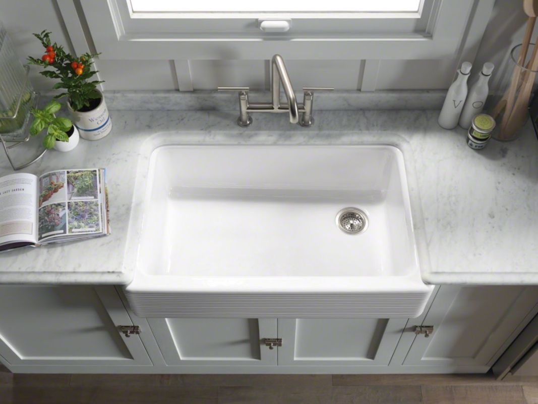 White Kitchen Sink Faucet Faucet Com K 6349 0 In White By Kohler