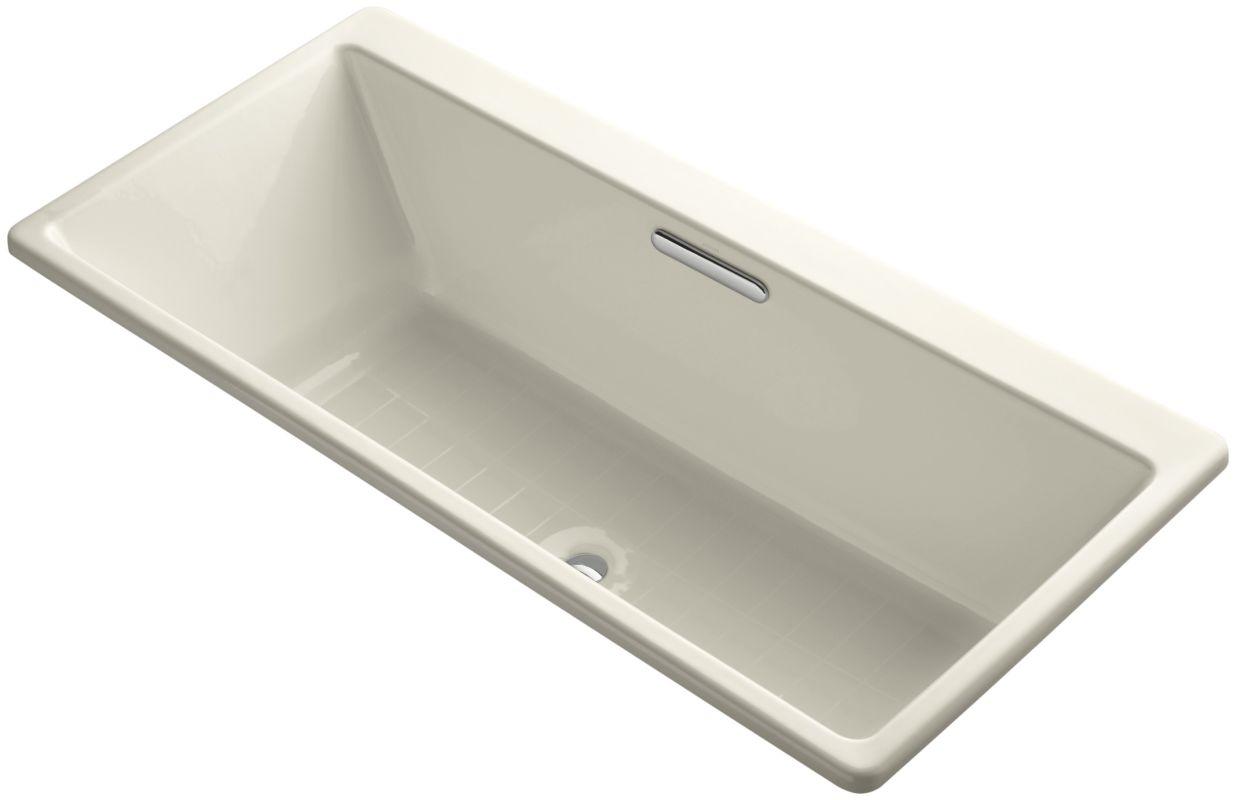 Kohler K 817 47 Almond 66 Quot Drop In Soaking Bath Tub With
