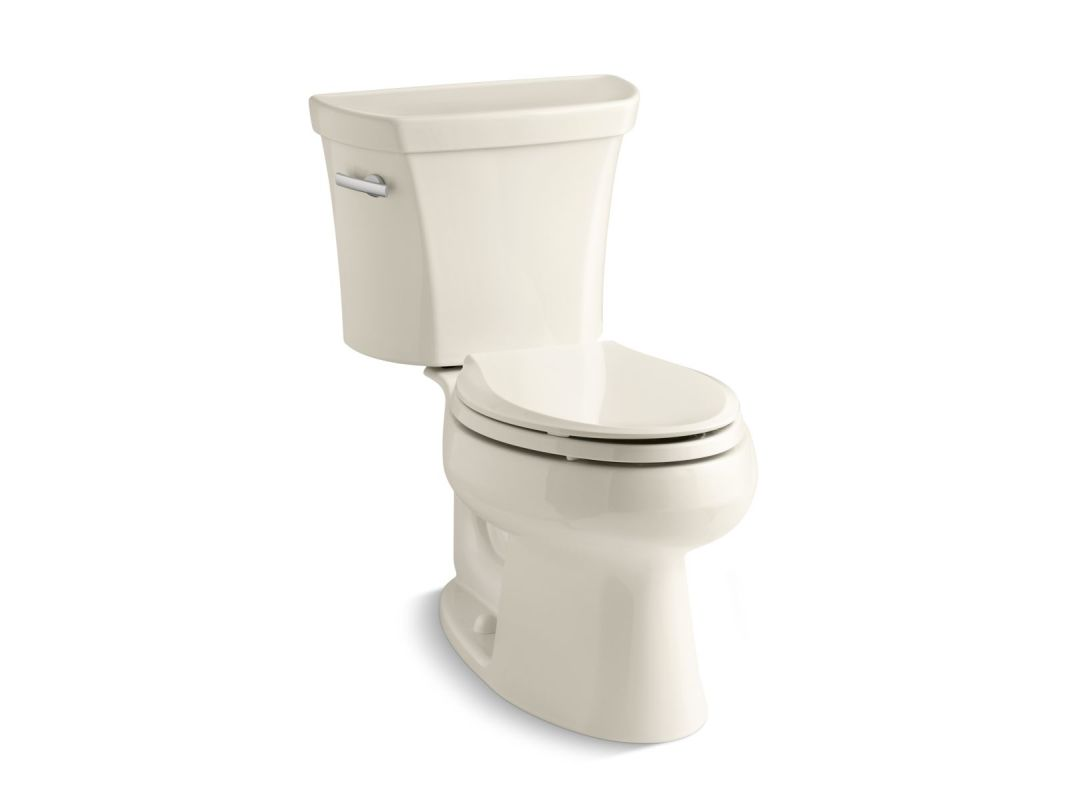 Kohler K-3998-47 Almond 1.28 GPF Two-Piece Elongated Toilet with 12 ...