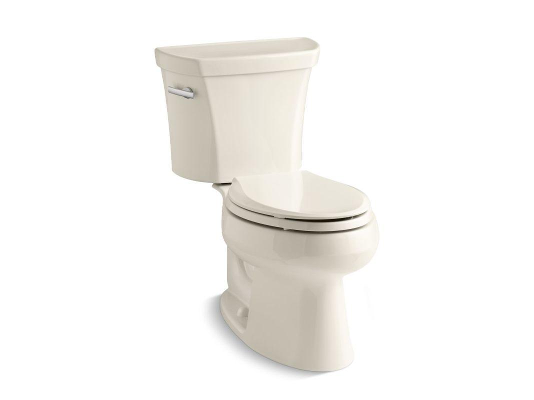 Kohler Products : Kohler K-3998-47 Almond 1.28 GPF Two-Piece Elongated Toilet with 12 ...