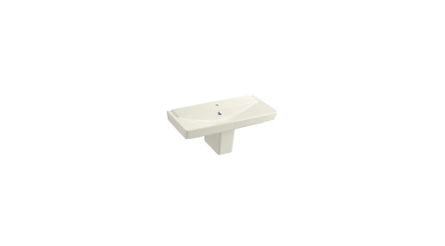 Kohler K 5148 1 96 Biscuit Single Basin Pedestal Sink From